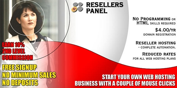 Start your own Reseller hosting business with a couple of mouse clicks